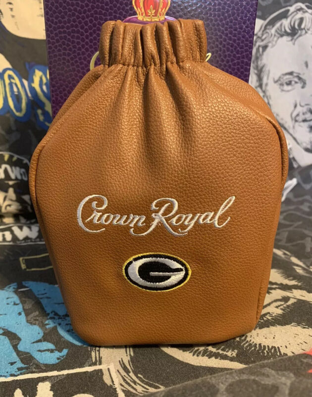 Limited Special Edition Crown Royal Bag New w/Box Green Bay Packers NFL Football