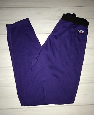 Hot Chillys Purple Black Leggings Girls Childrens Youth L Large - Hot Girls Leggings