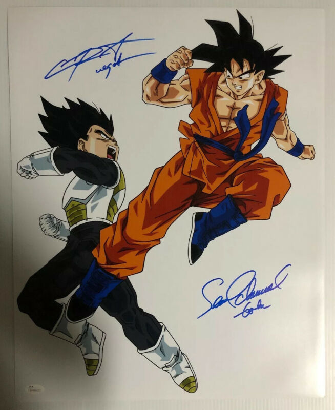 Sean Schemmel Chris Sabat Signed Autographed 16x20 Photo Dragon Ball Z JSA 8