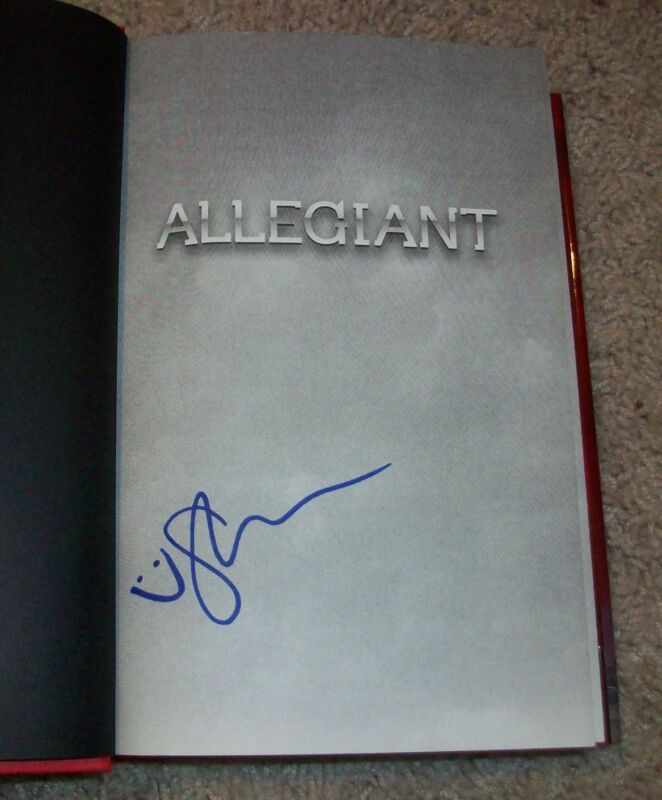 SHAILENE WOODLEY SIGNED HARD COVER ALLEGIANT BOOK w/PROOF AUTOGRAPH DIVERGENT