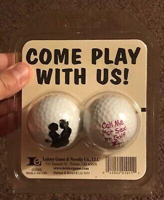 Leister Game & Novelty Golf Balls 2 Pack Funny Sex Joke Gag Gift Retired & Bored