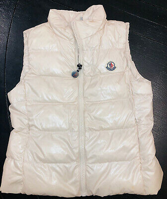Moncler Vest, Size 5 Girls Down Light Pink Puffer