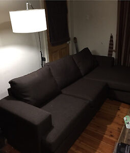 LOUNGE SUITE - chocolate  3 piece (2 lounges + Ottoman) Semaphore Port Adelaide Area Preview