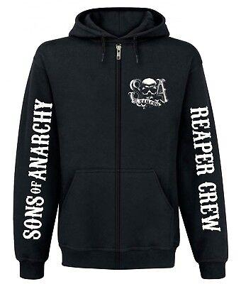 Sons of Anarchy Reaper Crew Zipper Hoodie, Herren Kapuzenjacke (Sons Of Anarchy Hoodies)