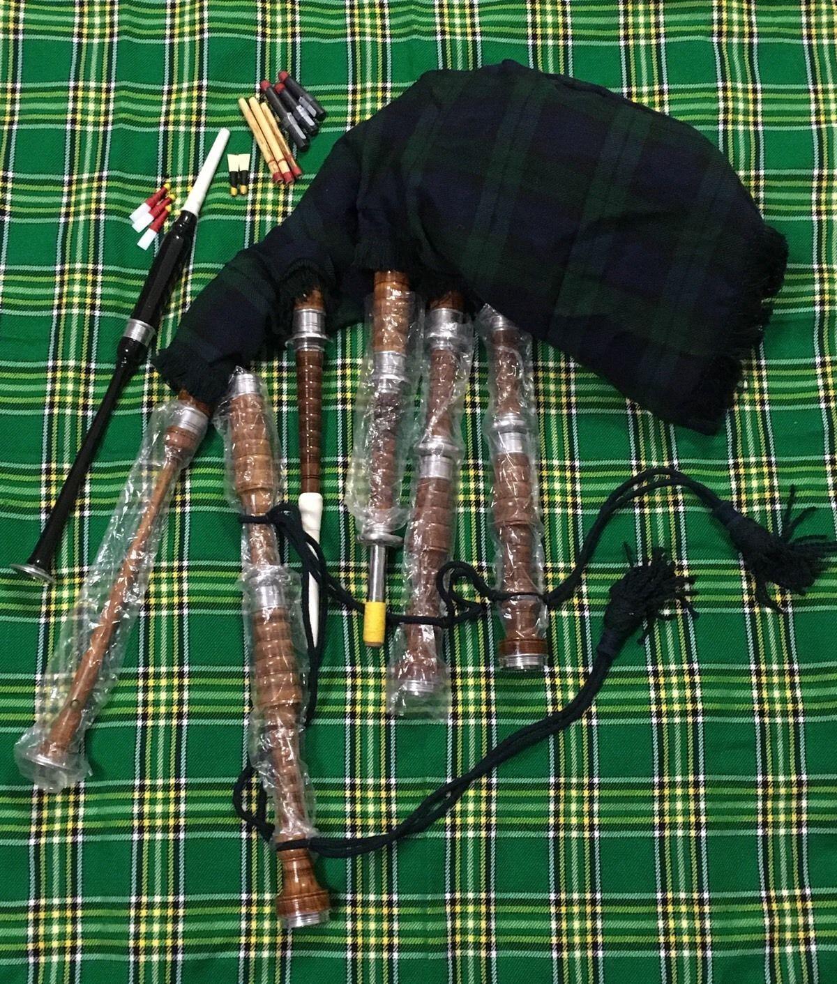 Scottish Great Highland Dudelsack Rosenholz Komplettset Gaita
