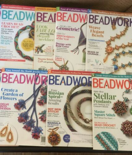 BEADWORK Lot of 8 Back Issues Jewelry Patterns