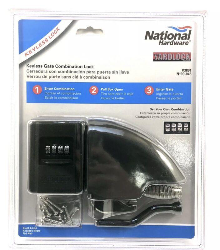 New National Hardware YARDLOCK Keyless Gate Combination Lock N109-045 V3801