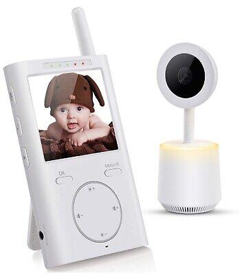 Baby Monitor 2.4GHz Wireless Video Camera Two Way Audio LED Night Light Music