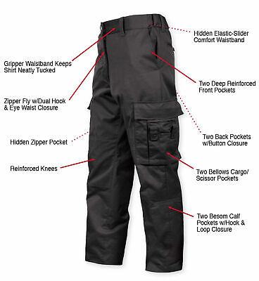 Black Emt Ems Pants - ROTHCO 3823 Deluxe Black EMT & EMS MENS Cargo BDU Uniform Pants SIZE 30-46