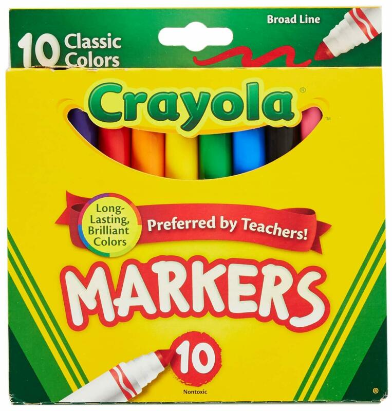 Crayola 758114552570 Broad Line Markers Classic Colors 10 Each (Pack of 24) Bulk