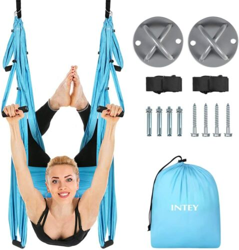 INTEY Aerial Yoga Flying Yoga Swing Yoga Hammock Trapeze Sling Ceiling Anchors