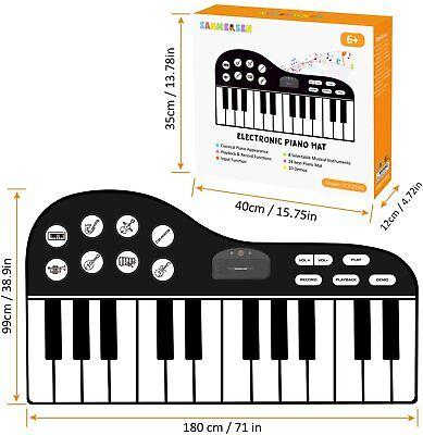 M Sanmersen Large 71 Electronic 24 Key Piano Mat Keyboard Model YCY-2166 - $34.95