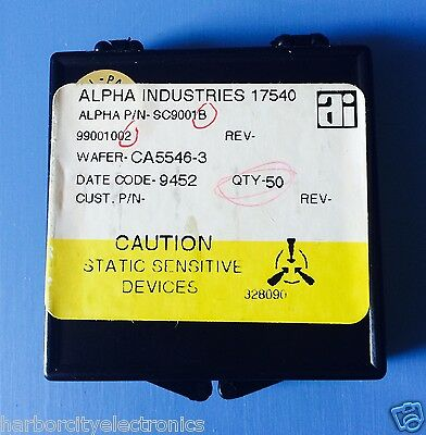 Sc9001b Alpha Industries Capacitor Chip Rf Microwave Product 50units Total