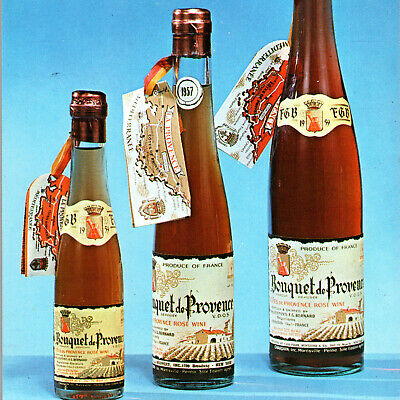 Vintage 1960s Bouquet De Provence Vineyards Rose Wine Park Benziger Postcard NY