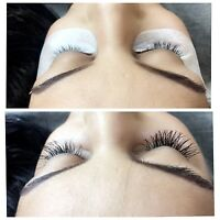 GREAT EYELASH EXTENSIONS FOR $55!