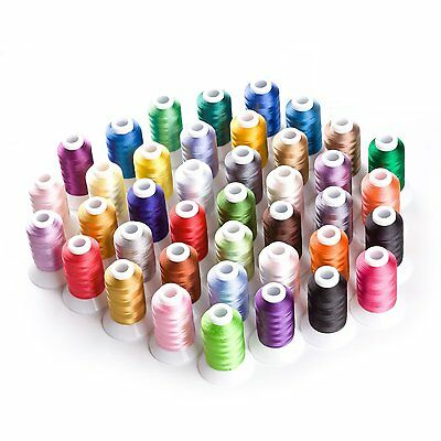 Sinbel 40 Spools Polyester Embroidery Thread For Brother Babylock Janome Singer