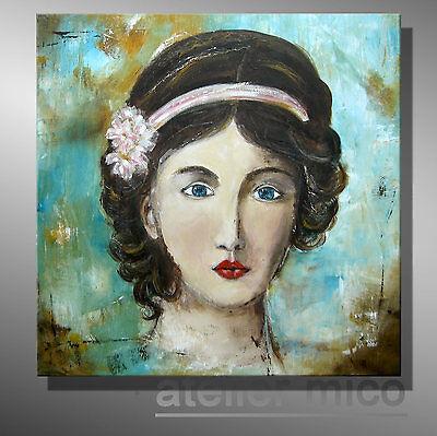 Atelier mico ☆☆☆ ORIGINAL abstrakt Gemälde Portrait bilder malerei Künstlerbild
