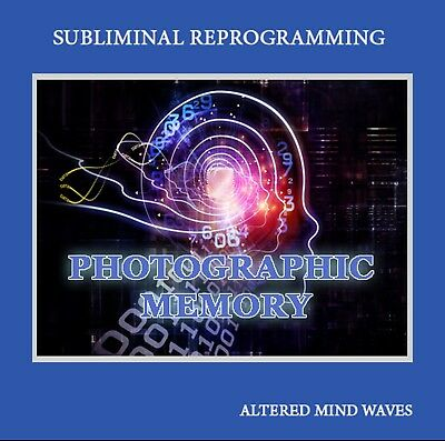 Photographic Memory Subliminal CD - Develop Your Natural Perfect Memory