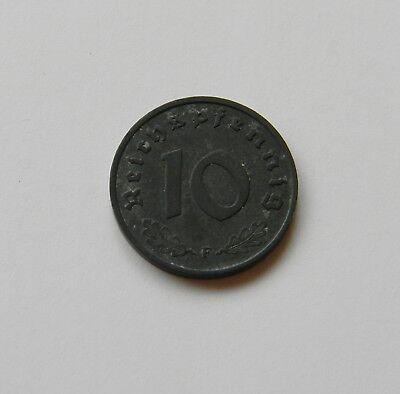 DRITTES REICH: 10 Reichspfennig 1944 F, J. 371, prägefrisch/unc.,  III.