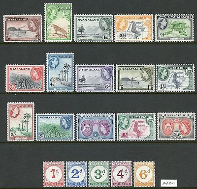 NYASALAND PROTECTORATE 1908/53   LOT OF 90 DIFFERENT MINT HINGED STAMPS AS SHOWN