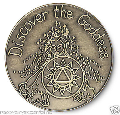 Bronze Discover the Goddess AA 12 Step Recovery Program Coin /Token/Chip
