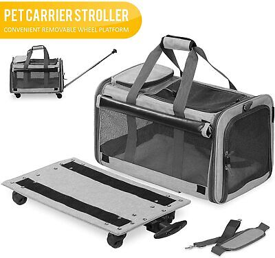 Pet Carrier with Detachable Wheels for Small Dogs & Cats - G