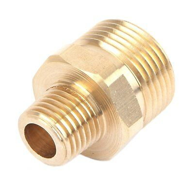 Pressure Washer Fitting Adapter Connector Plug 22mm Male X 14 Male Npt