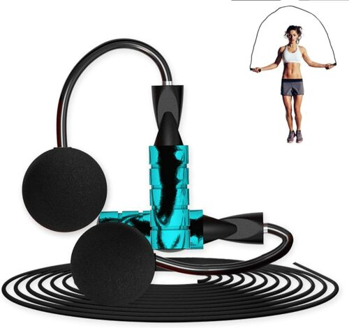 Ropeless Jump Rope, Cordless for Fitness Weighted Skipping Cardio Workout Ball