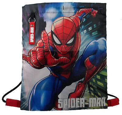 Marvel Spiderman Action Pose Diseño Zapatillas para Niños Bolso Gimnasia Bolsa