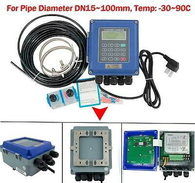 Ultrasonic Flow Meter Liquid Flowmeter Ip67 Protection Tuf-2000b Dn15-100mm Ts-2
