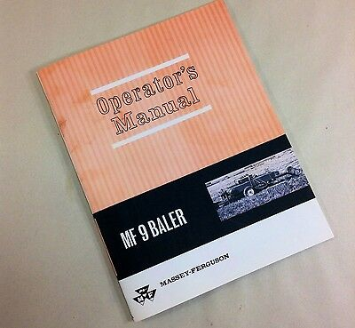 MASSEY FERGUSON MF 9 SQUARE BALER OPERATORS OWNERS MANUAL HAY TWINE OPERATION