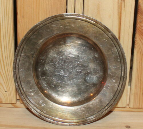 Antique silver plated dish