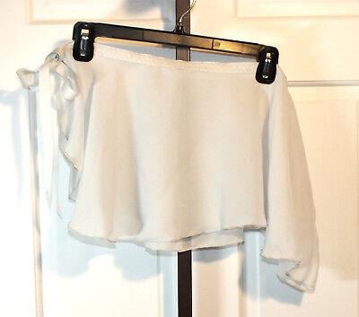 Vintage Dance White M Stevens Skirt Tutu Ballerina Sheer Material Costume B104](Vintage Ballet Costumes)