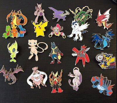 POKEMON: 5 RANDOM OFFICIAL PINS - PIKACHU, MEGA CHARIZARD? (NEW) NO DUPLICATES