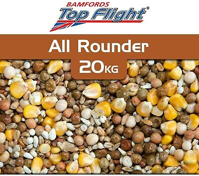 Pigeon Food All Rounder Seed by Bamfords Top Flight 20kg Pigeons BMFD DS