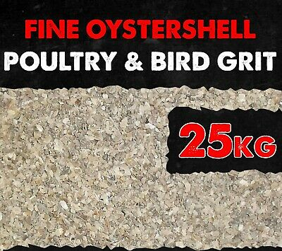 Poultry Fine Oyster Shell Grit  Chickens Ducks Quail  Aviary Birds 25KG BMFD DS