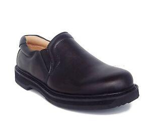 vegace 9003 mens black leather slip on slip resistant