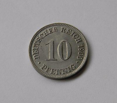 KAISERREICH: 10 Pfennig 1900 D, J. 13, fast stempelglanz