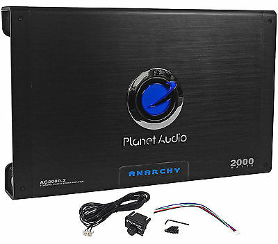 New Planet Audio Anarchy AC2000.2 2000 Watt 2 Channel Car Amplifier Amp + Remote