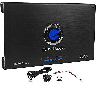 New Planet Audio Anarchy Ac2000 2 2000 Watt 2 Channel Car Amplifier Amp   Remote