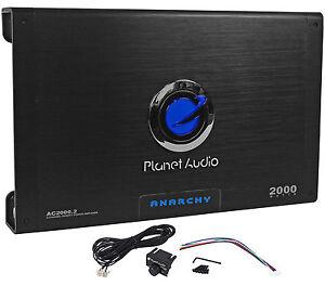 New Planet Audio Anarchy AC2000.2 2000 Watt 2 Channel Car Amplifier Amp + Remote