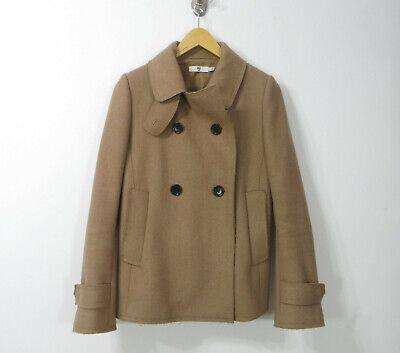 Uniqlo +J Jil Sander Wool Blend beige women's coat jacket Large L