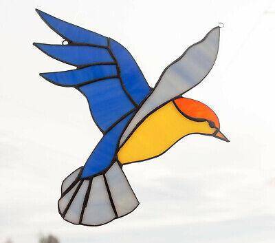 Tiffany Glasfensterbild  BLUE BIRD