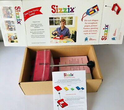Sizzix Personal Die Cutter Paper Cutting Machine Original Red Provo Craft NEW for sale  Shipping to Nigeria