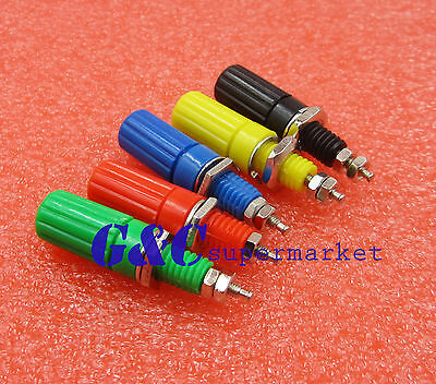 5Pcs 5 Colors Binding Post For Speaker 4Mm Female Banana Plug Test Connector ac