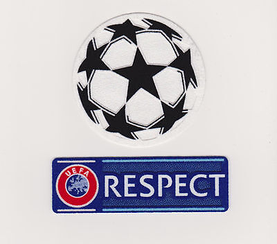 UEFA Champions League Football Soccer Patch Ball And Respect Patches  2015/16