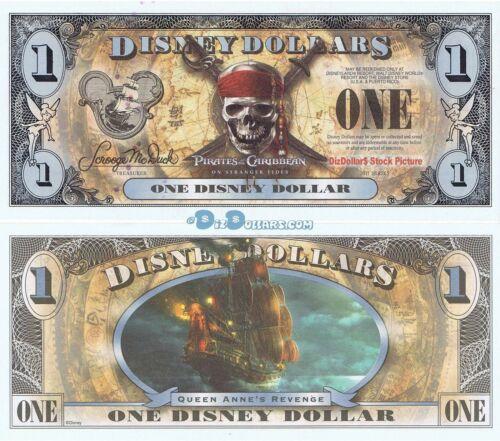 2011 F $1 Pirates Caribbean MINT Queen Annes Disney World Dollar Dollars DIS159