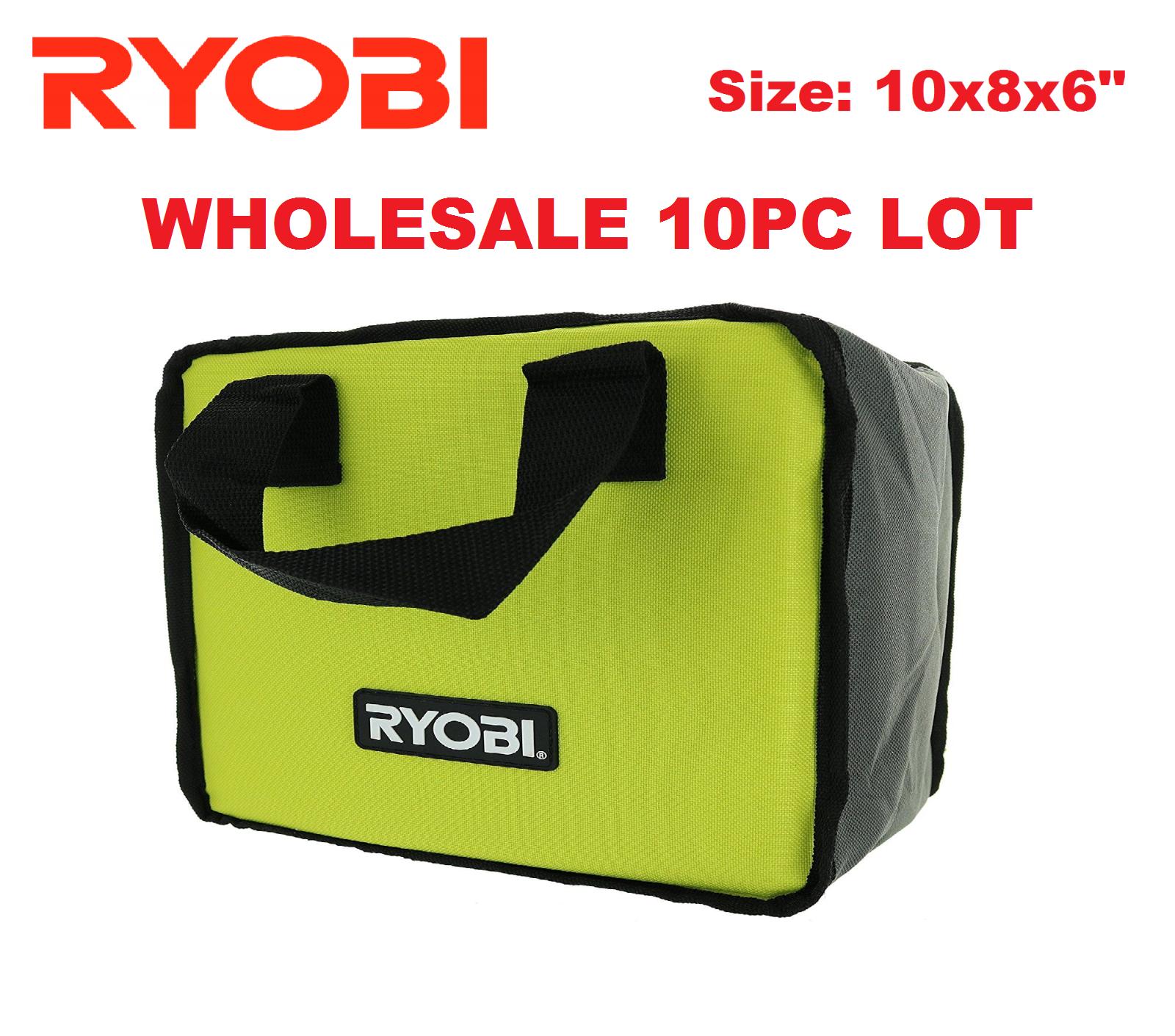 10x New RYOBI Lime Green Genuine OEM Tool Tote Zipper Tool B