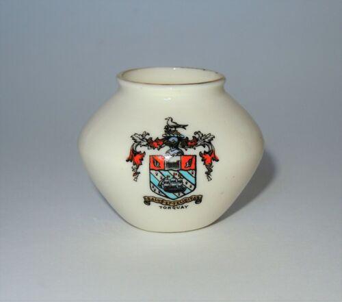 W. H. GOSS Crested Heraldic China Mini Miniature Model of Ancient Urn Torquay
