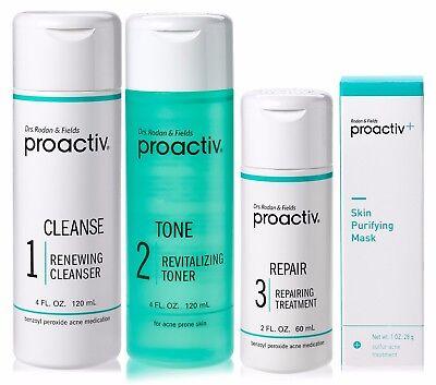 Proactiv 60 Day 3 Step Acne Treatment System 4Pc Set